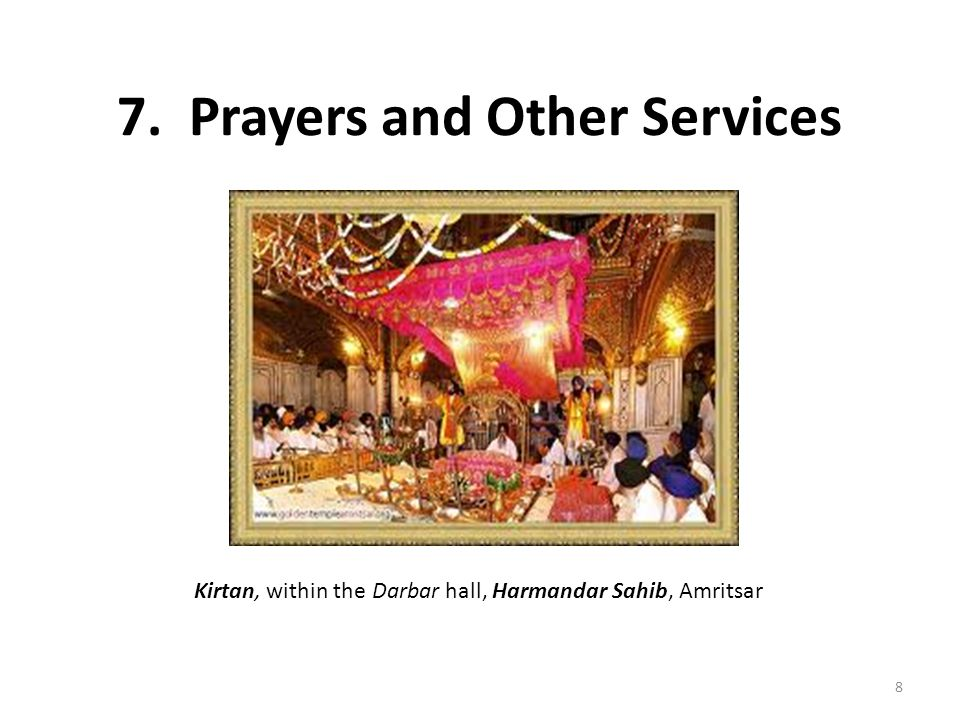 7. Prayers and Other Services