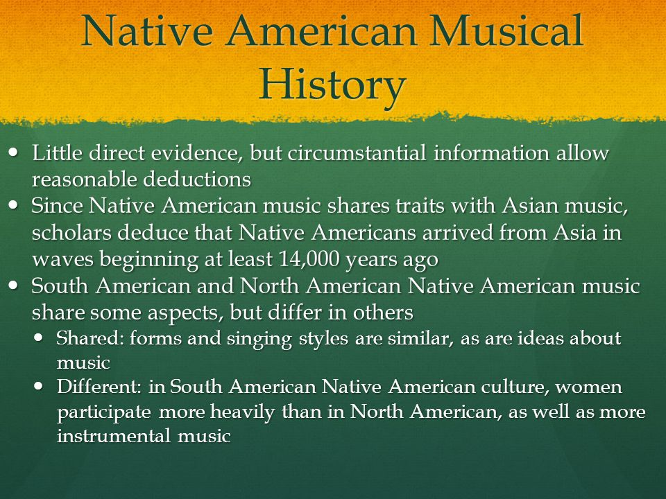 Native American Musical History