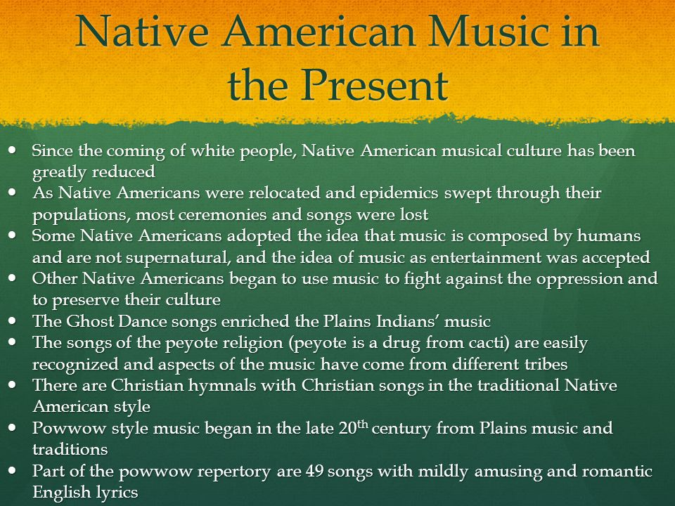 Native American Music in the Present