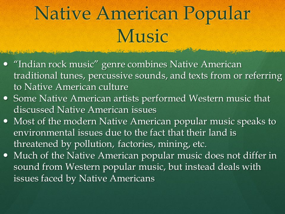 Native American Popular Music