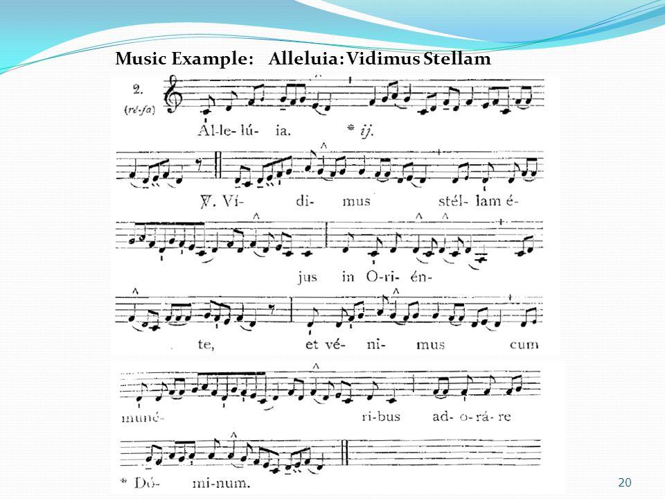 Music Example: Alleluia: Vidimus Stellam