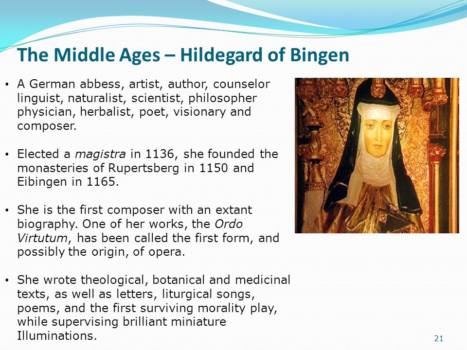 The Middle Ages – Hildegard of Bingen