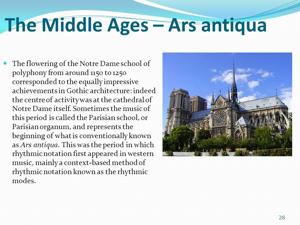 The Middle Ages – Ars antiqua