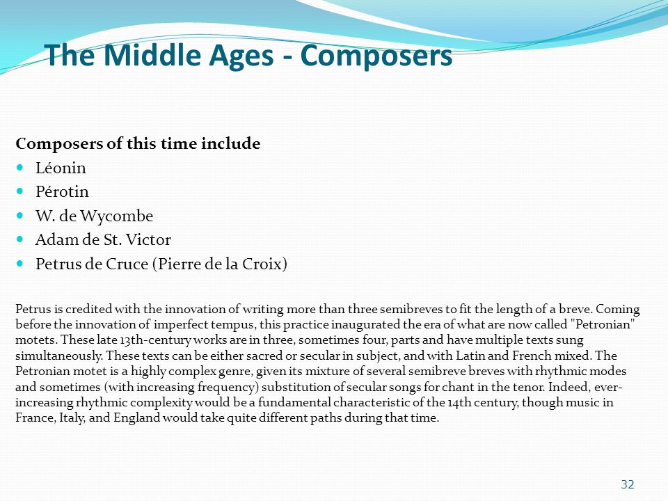 The Middle Ages - Composers