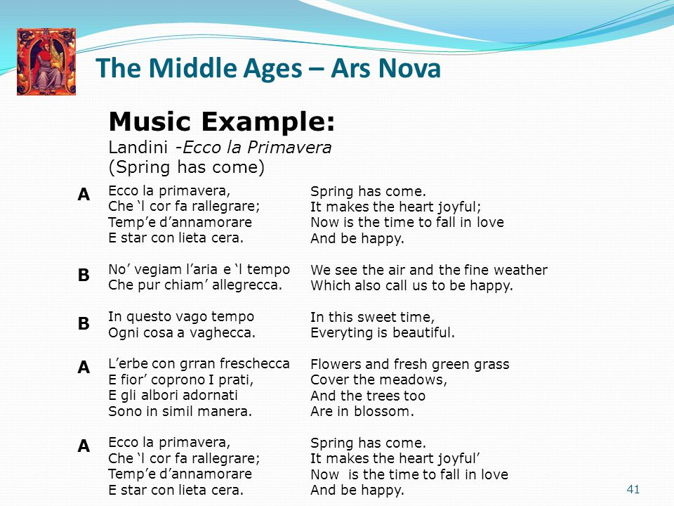 The Middle Ages – Ars Nova