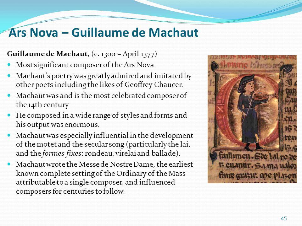 Ars Nova – Guillaume de Machaut
