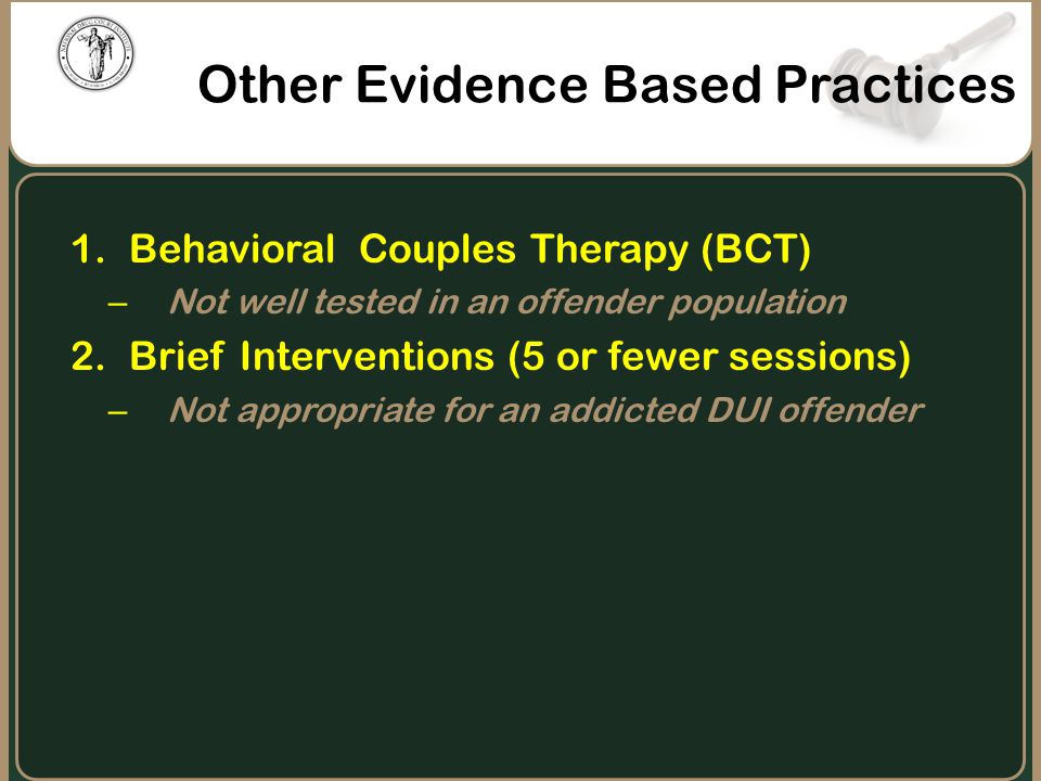Other Evidence Based Practices