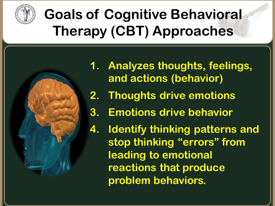 Goals of Cognitive Behavioral Therapy (CBT) Approaches