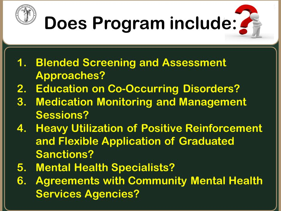 Does Program include: Blended Screening and Assessment Approaches