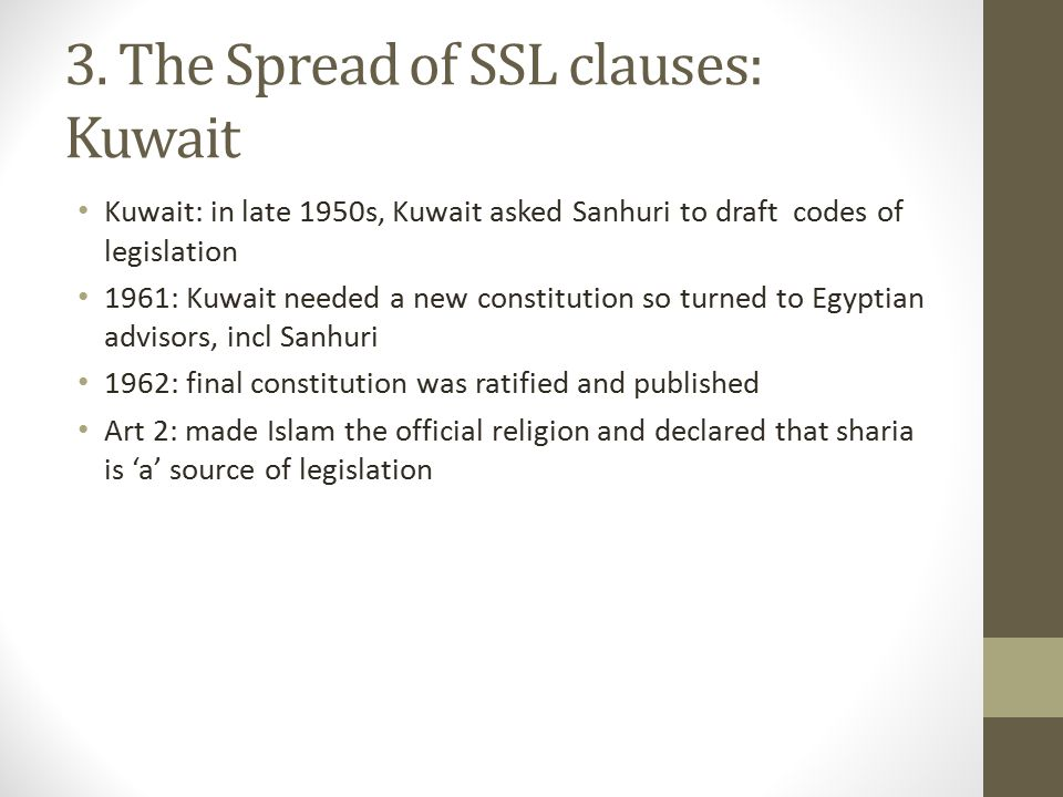 3. The Spread of SSL clauses: Kuwait