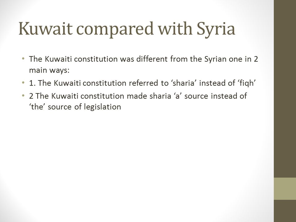 Kuwait compared with Syria