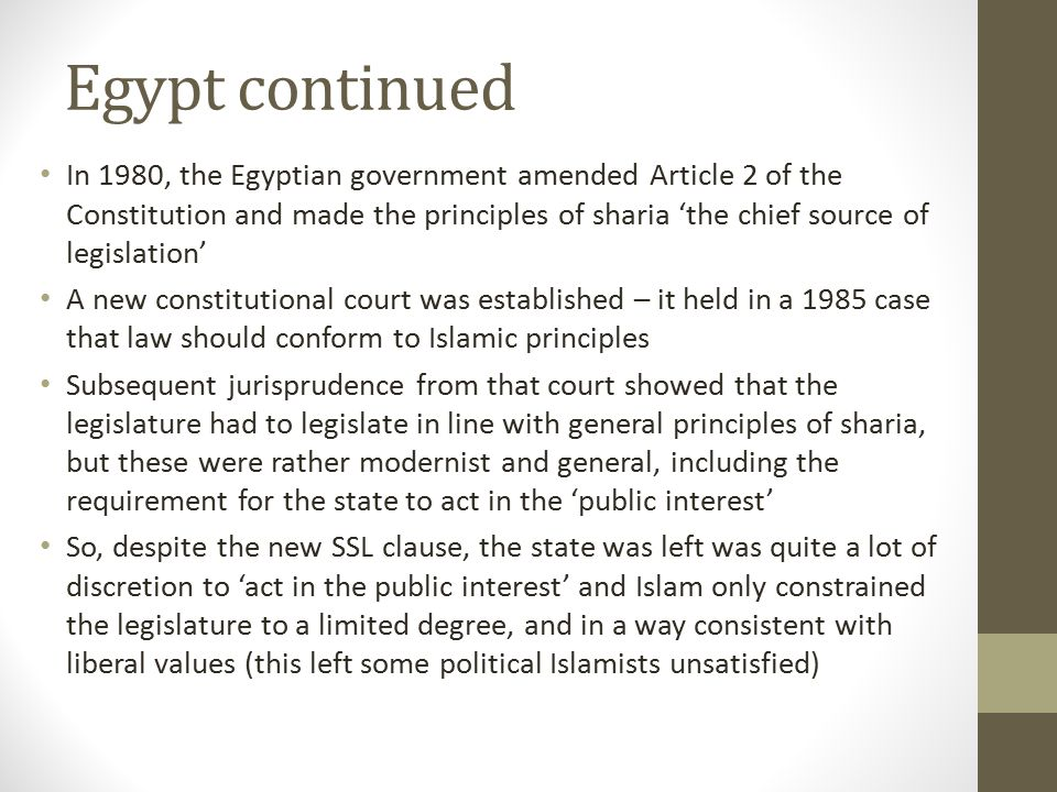 Egypt continued