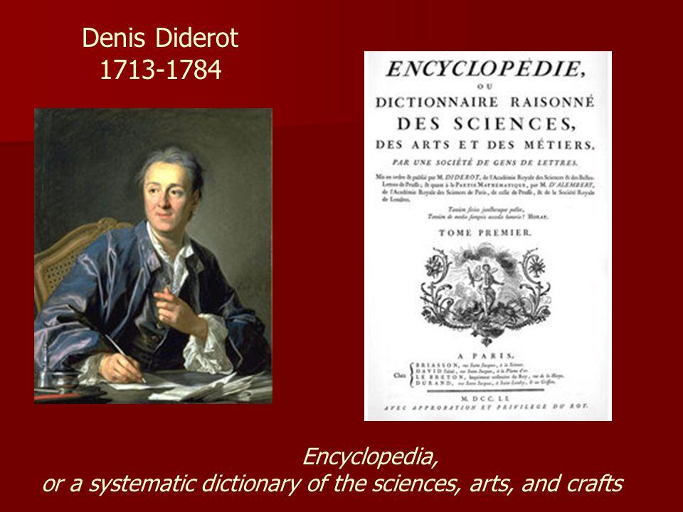 Denis Diderot 1713-1784 Encyclopedia,