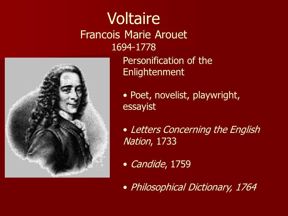 Voltaire Francois Marie Arouet 1694-1778