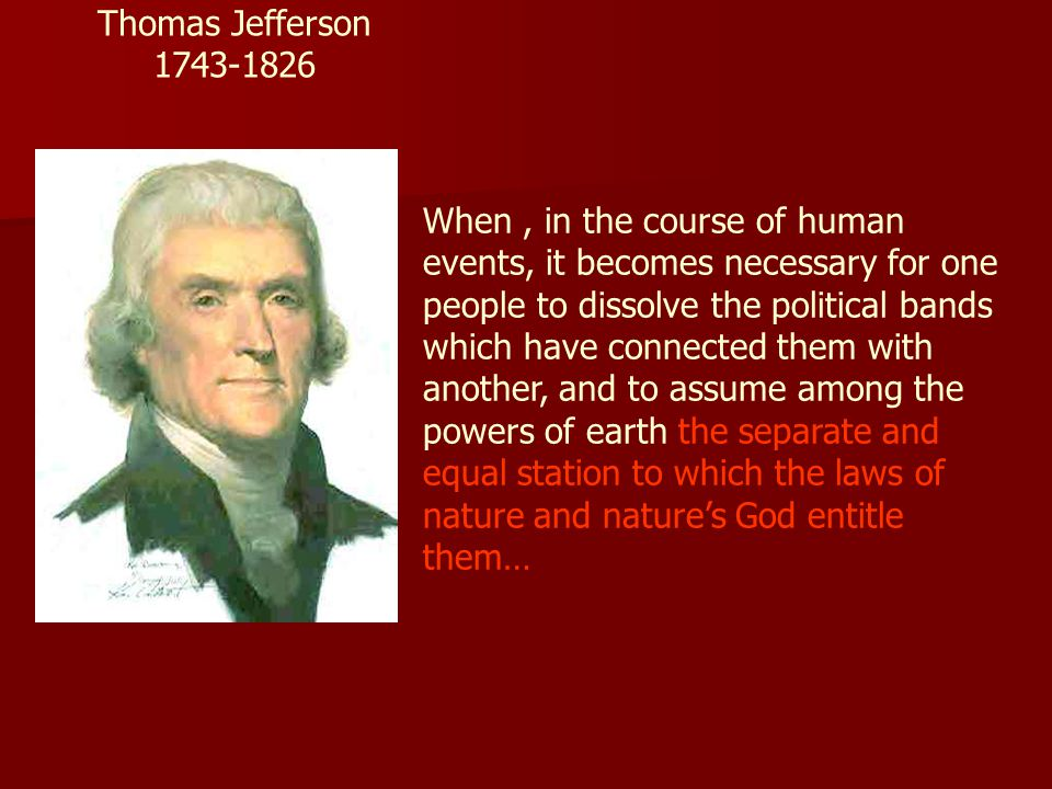 Thomas Jefferson 1743-1826.