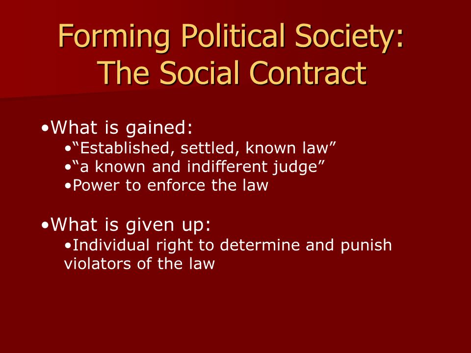 Forming Political Society: The Social Contract