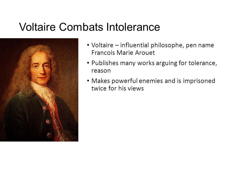Voltaire Combats Intolerance