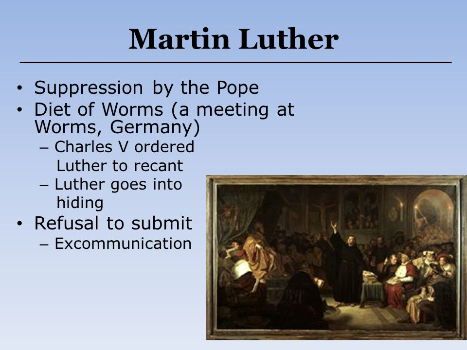 Martin Luther Suppression by the Pope