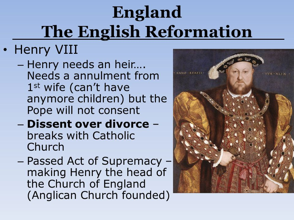 England The English Reformation
