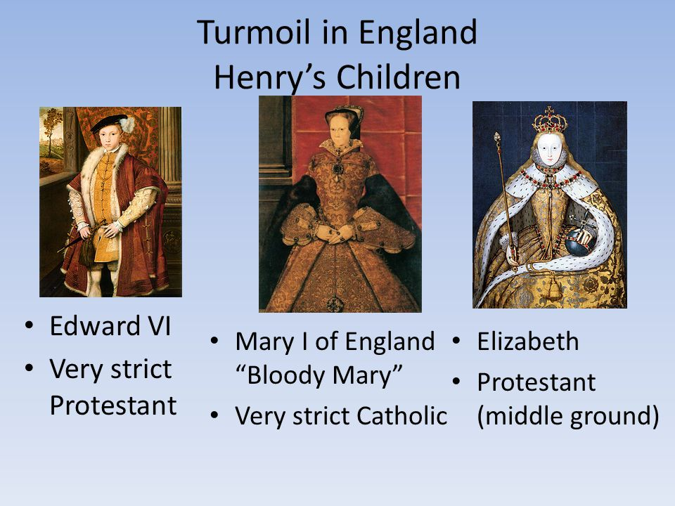 Turmoil in England Henry's Children