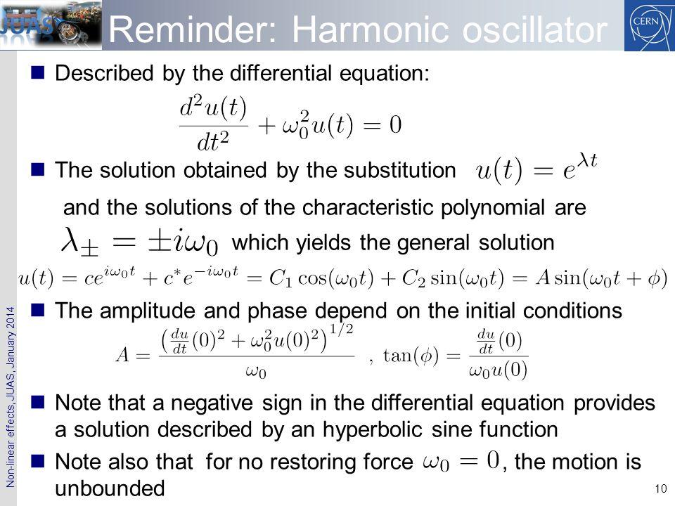 Reminder: Harmonic oscillator