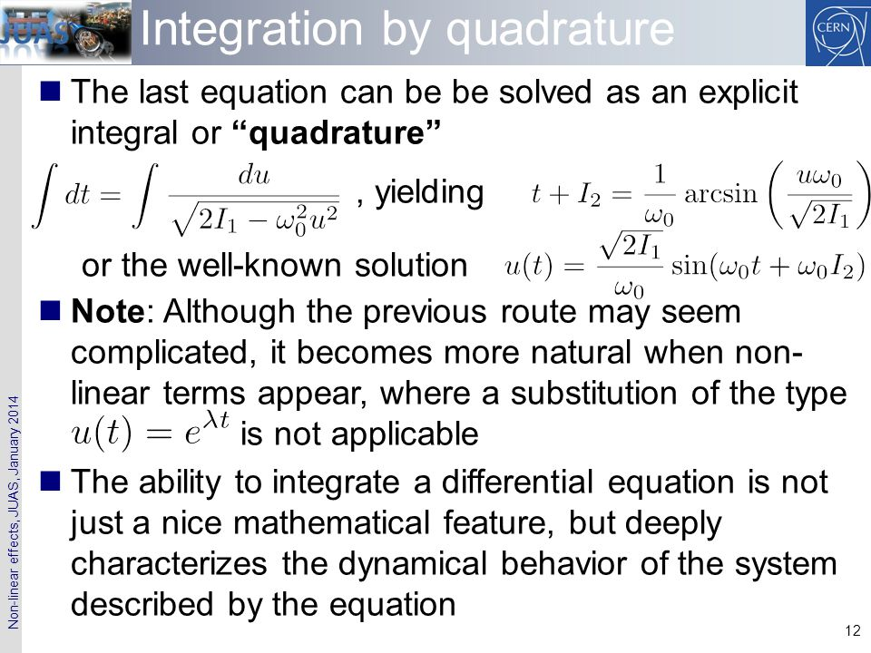 Integration by quadrature
