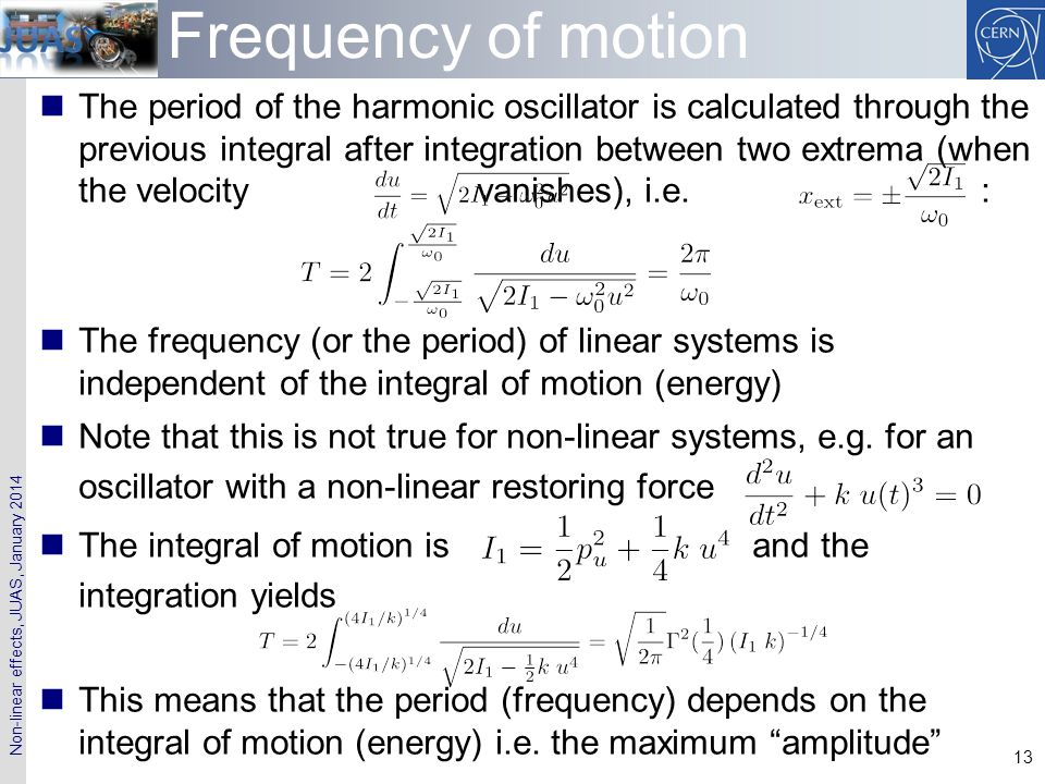 Frequency of motion