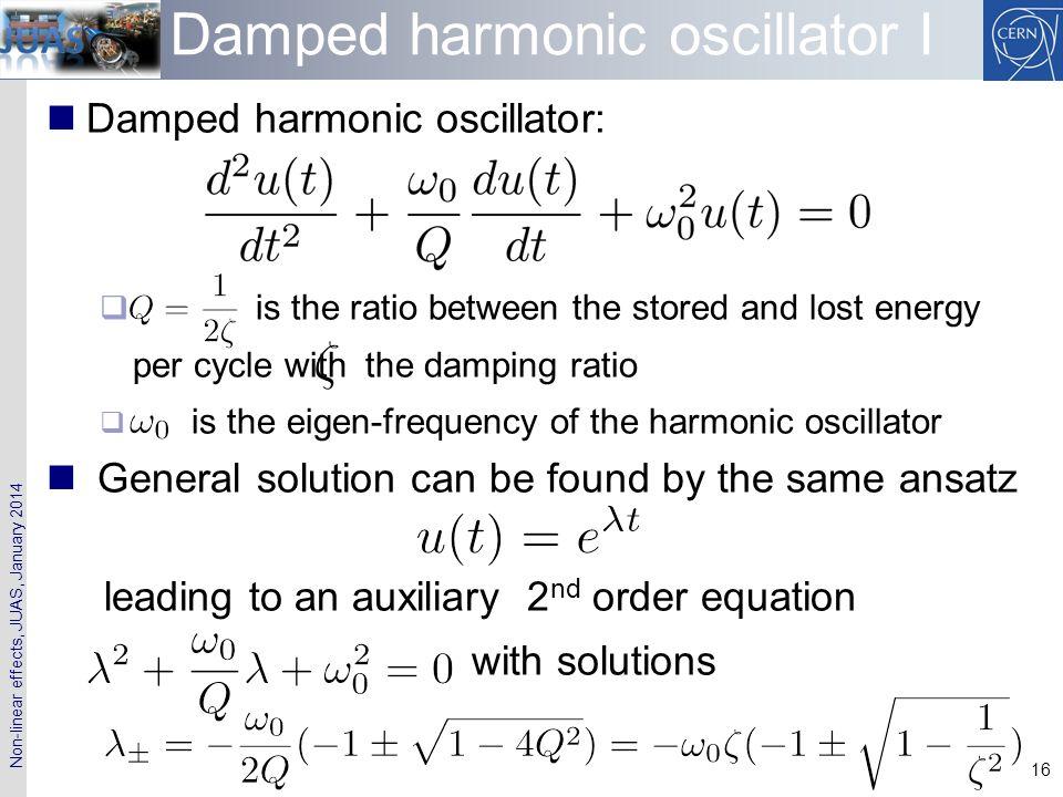 Damped harmonic oscillator I