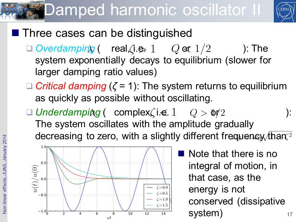 Damped harmonic oscillator II