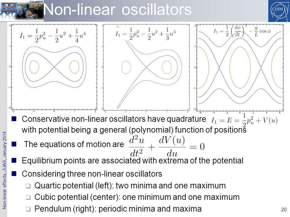 Non-linear oscillators