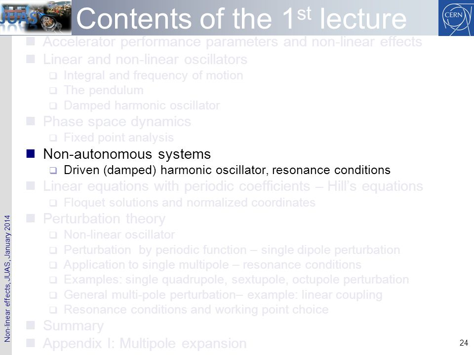Contents of the 1st lecture