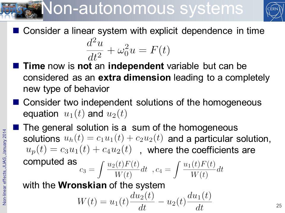 Non-autonomous systems