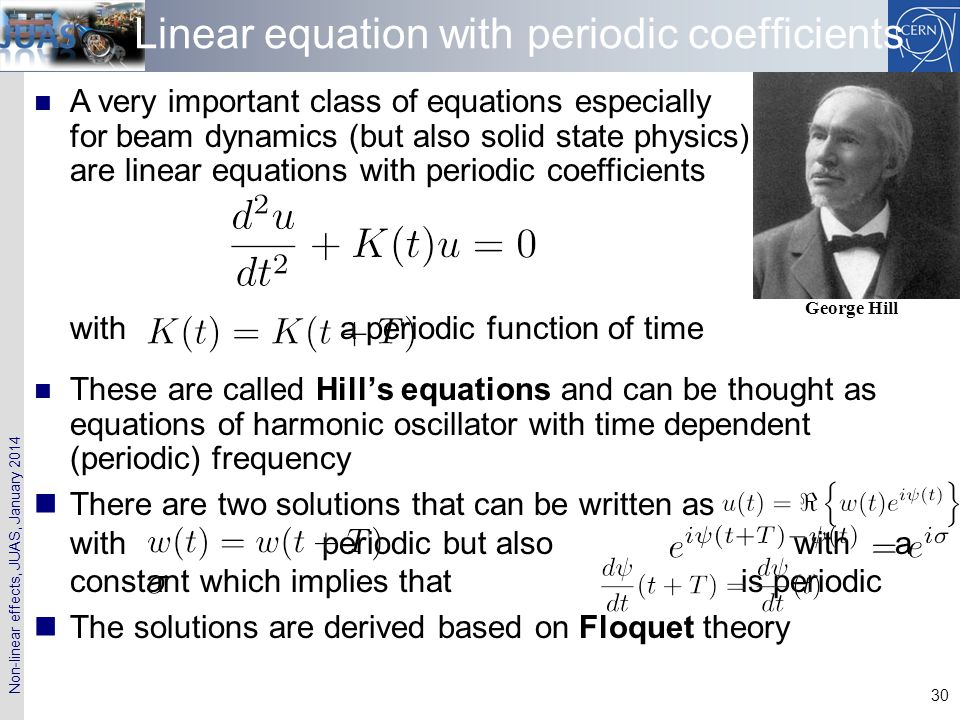 Linear equation with periodic coefficients