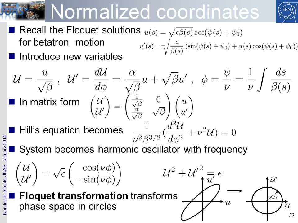 Normalized coordinates