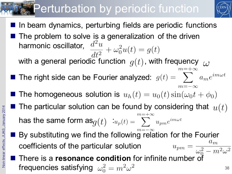 Perturbation by periodic function