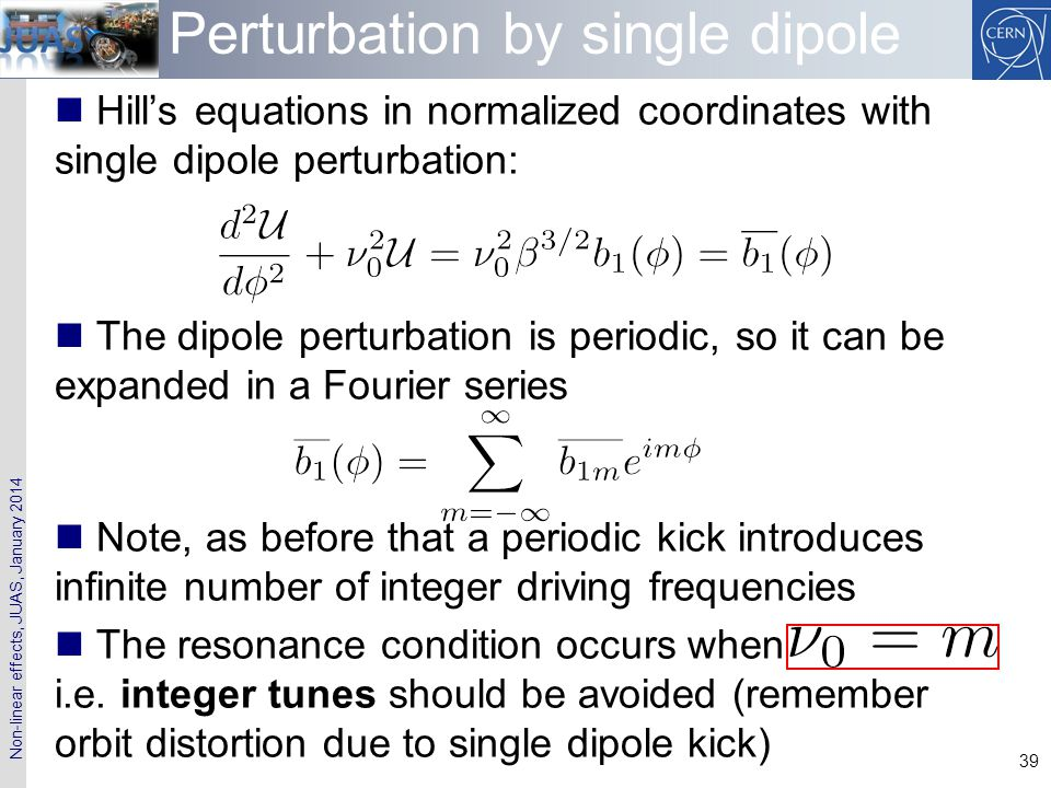 Perturbation by single dipole