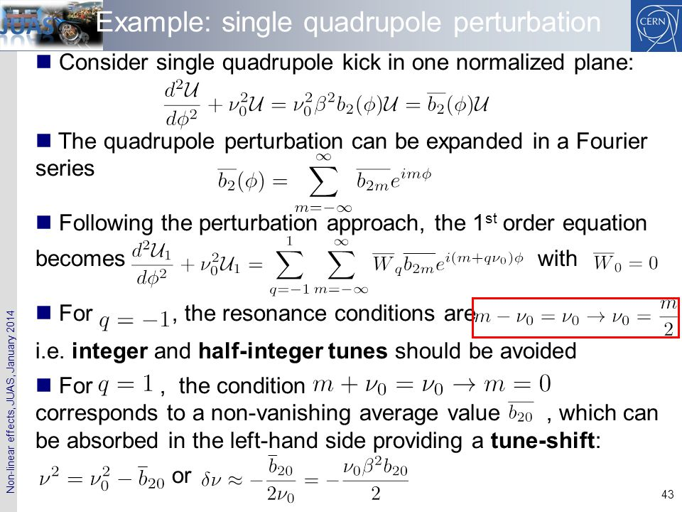 Example: single quadrupole perturbation
