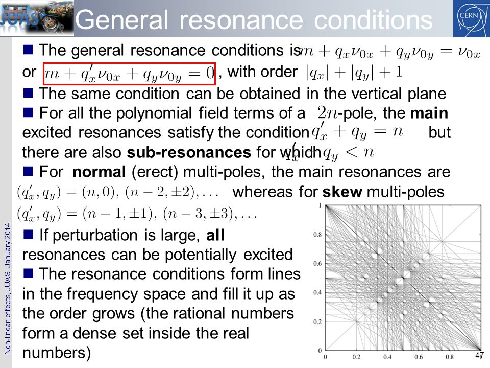 General resonance conditions