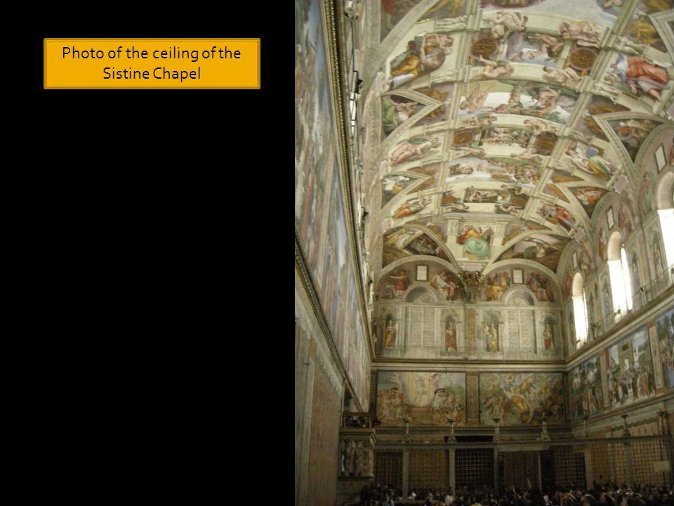 Photo of the ceiling of the Sistine Chapel