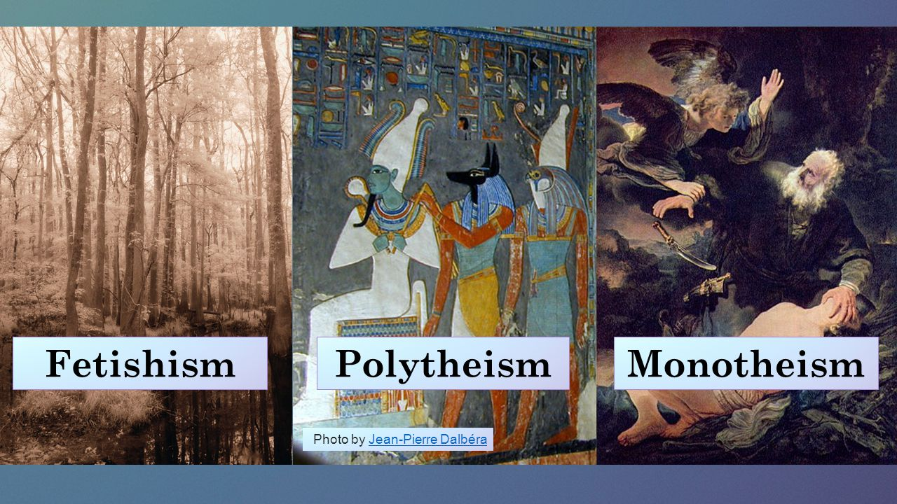Fetishism Polytheism Monotheism