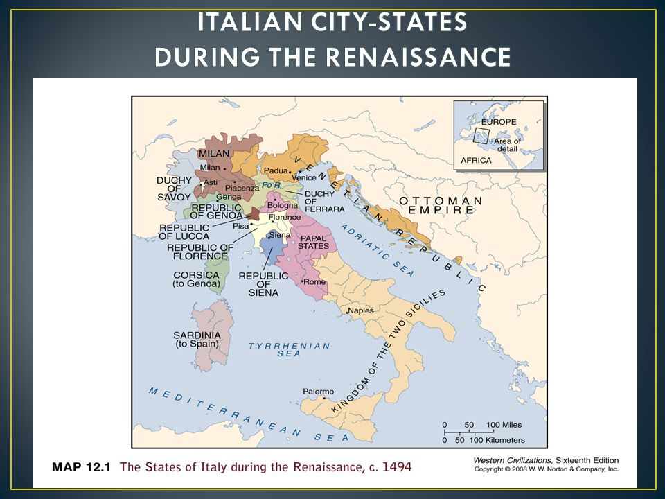 ITALIAN CITY-STATES DURING THE RENAISSANCE