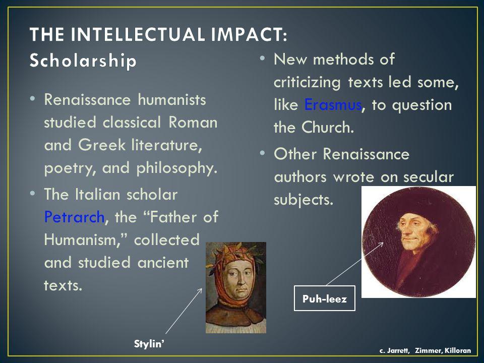 THE INTELLECTUAL IMPACT: Scholarship