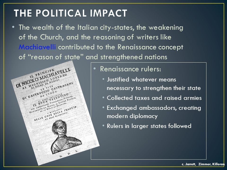 THE POLITICAL IMPACT