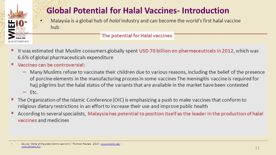Global Potential for Halal Vaccines- Introduction