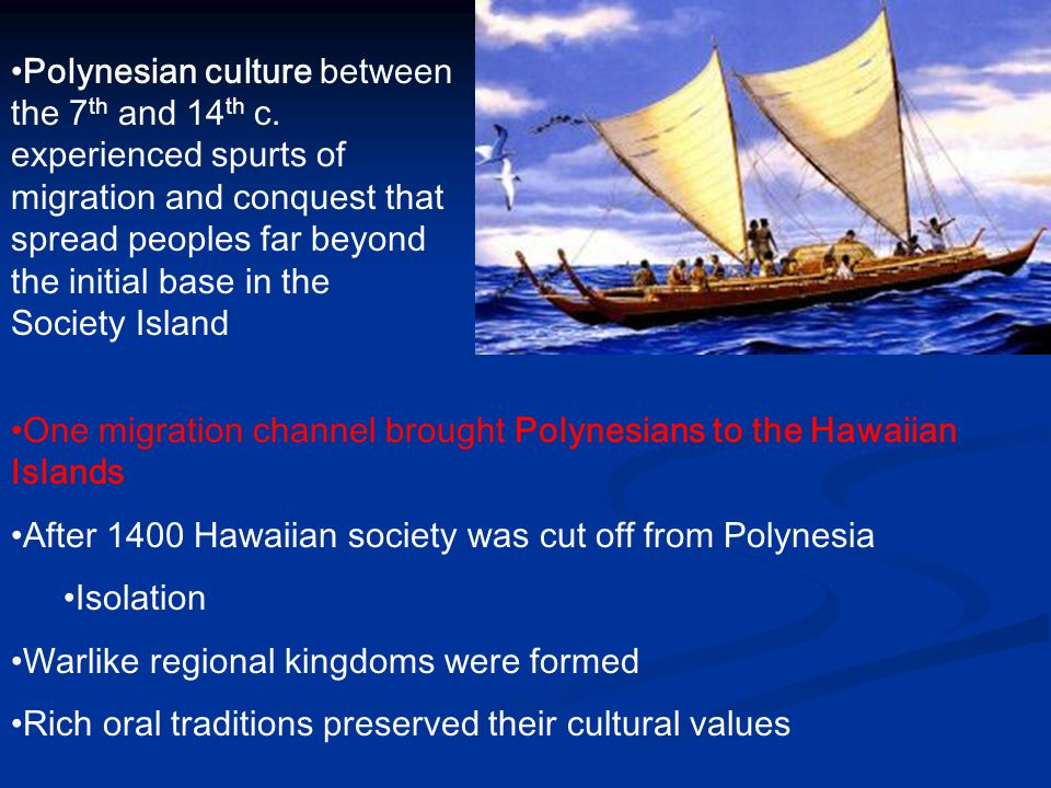 Polynesian culture between the 7th and 14th c
