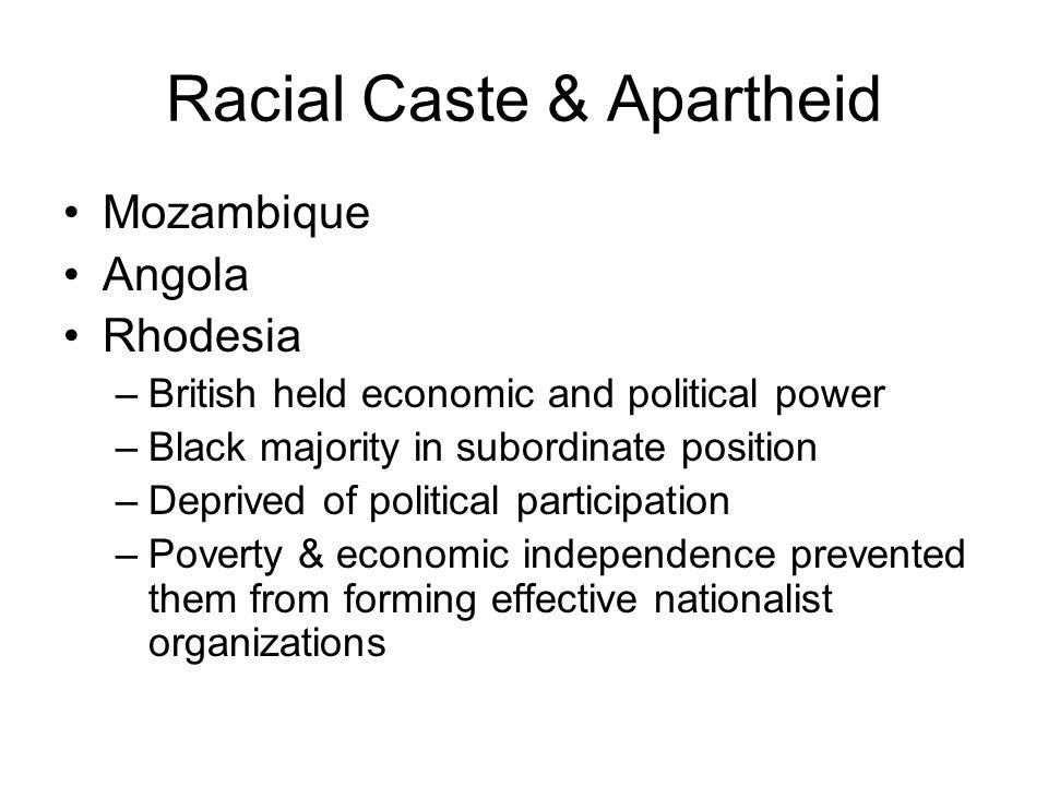 Racial Caste & Apartheid
