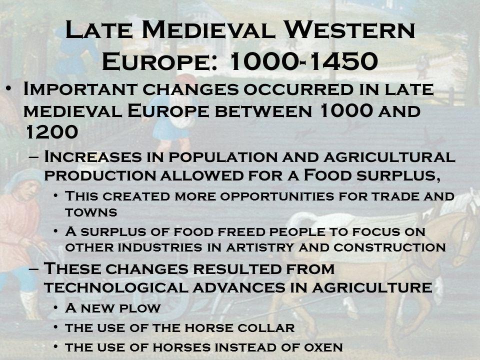 Late Medieval Western Europe: 1000-1450