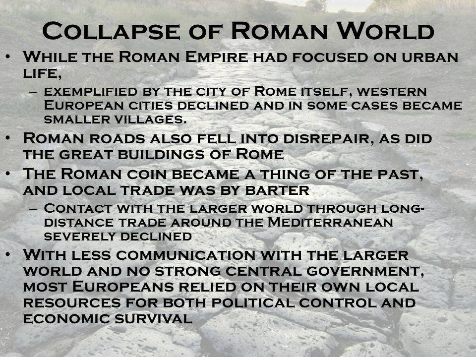 Collapse of Roman World