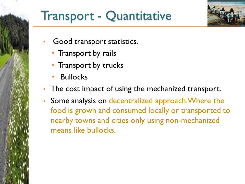 Transport - Quantitative
