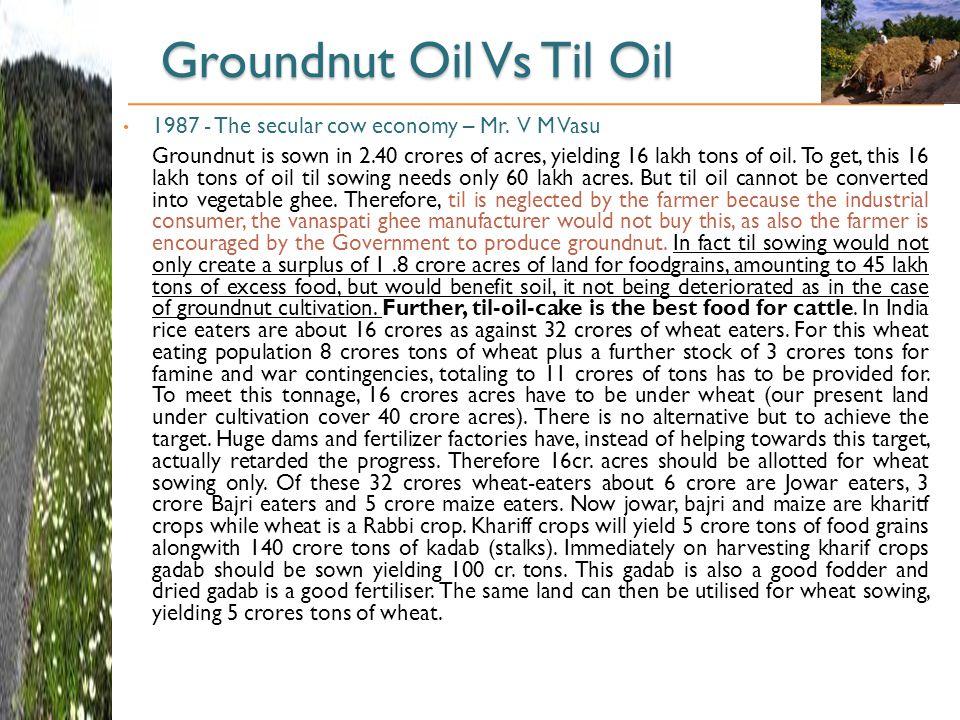 Groundnut Oil Vs Til Oil